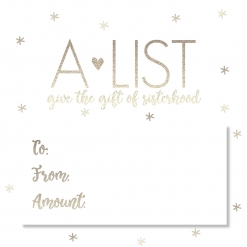 A-List Greek Holiday Gift Card