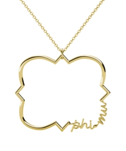 Phi-Mu-Quatrefoil-Necklace-Gold-Front