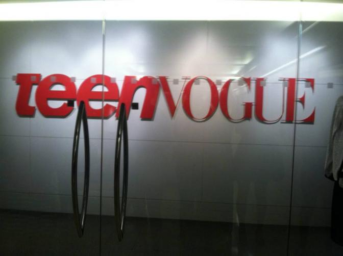 The doors to Teen Vogue.. you know just my future life