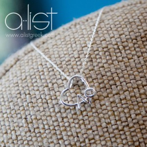Take Heart Alpha Phi Necklace