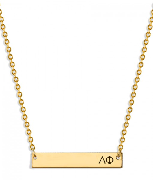 APhi-Sorority-Bar-Necklace-Gold