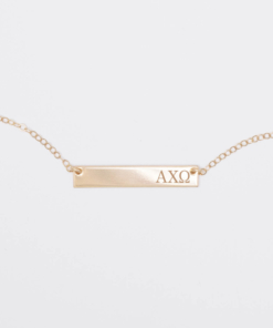 Bar-Necklace-Gold-H530-Alpha-Chi-Omega-Greek-Letters-5