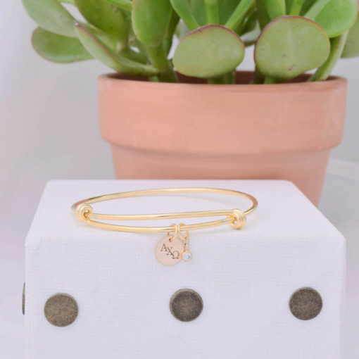 Gold-Coin-CZ-Bangle-Single-alpha-chi-omega-1