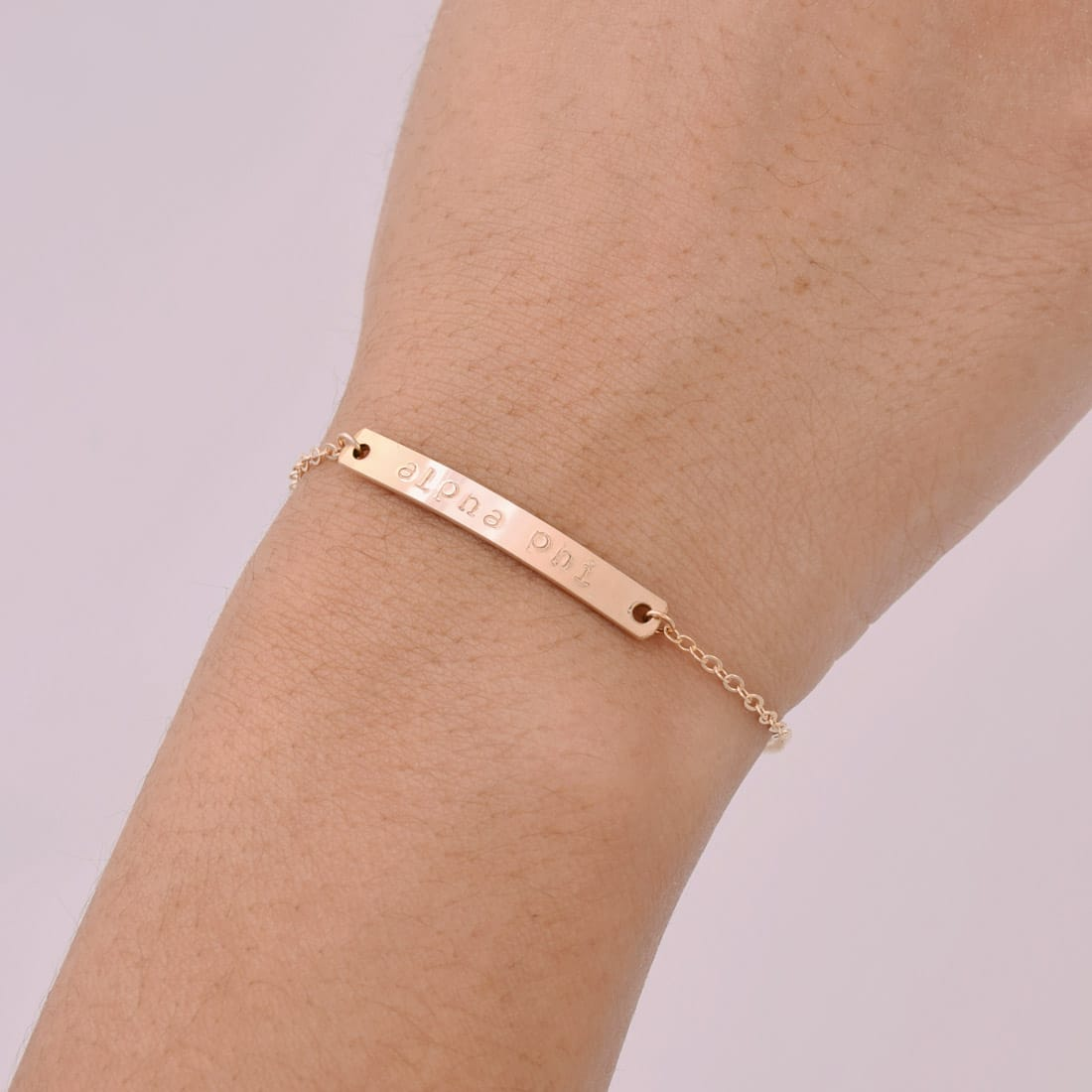 jewellery bracelet gold bar rose plated guess from image