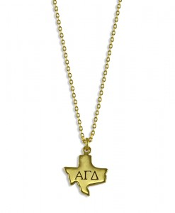AGD-Sorority-Texas-State-Necklace-Gold