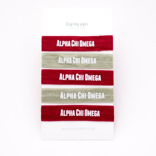 Alpha-Chi-Omega-Sorority Hair Tie Set