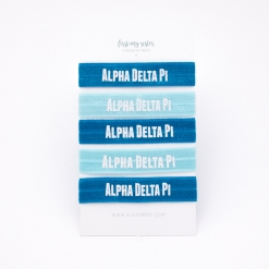 Alpha-Delta-Pi-Sorority Hair Tie Set