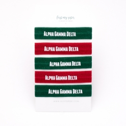 Alpha-Gamma-Delta-Sorority Hair Tie Set