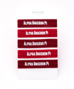 Alpha-Omicron-Pi-Sorority Hair Tie Set