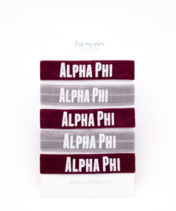 Alpha-Phi-Sorority Hair Tie Set
