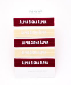 Alpha-Sigma-Alpha-Sorority Hair Tie Set