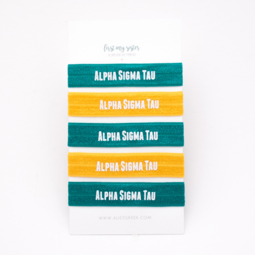 Alpha-Sigma-Tau-Sorority Hair Tie Set
