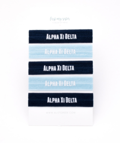 Alpha-Xi-Delta-Sorority Hair Tie Set