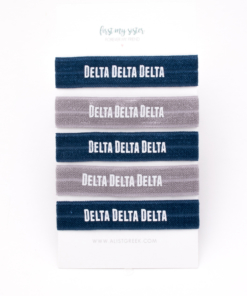 Delta-Delta-Delta-Sorority Hair Tie Set