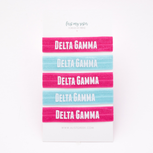 Delta-Gamma-Sorority Hair Tie Set