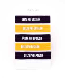 Delta-Phi-EpsilonSorority Hair Tie Set