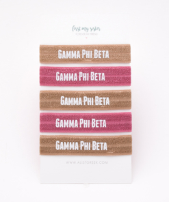 Gamma-Phi-Beta-Sorority Hair Tie Set