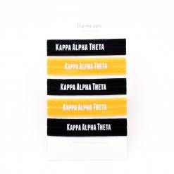 Kappa-Alpha-Theta-Sorority Hair Tie Set