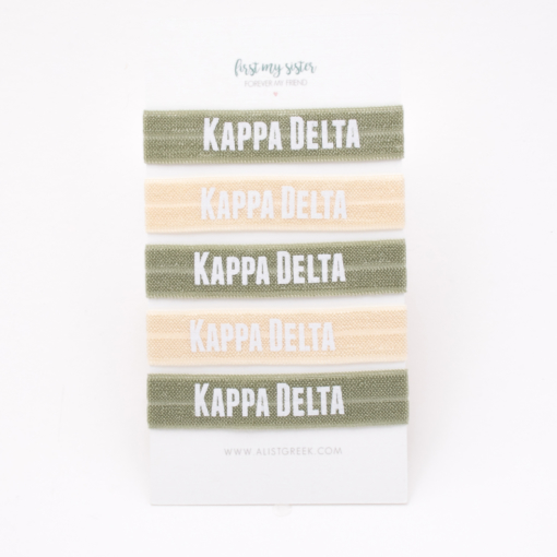 Kappa-Delta-Sorority Hair Tie Set