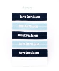 Kappa-Kappa-Gamma-Sorority Hair Tie Set