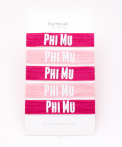 Phi-Mu-Sorority Hair Tie Set