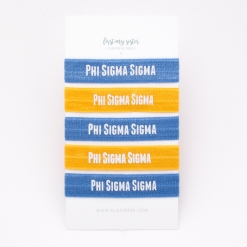 Phi-Sigma-Sigma-Sorority Hair Tie Set