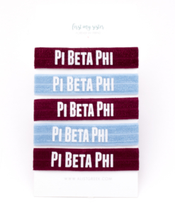 Pi-Beta-Phi-Sorority Hair Tie Set