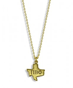 Pi-Phi-Texas-State-Necklace-Gold