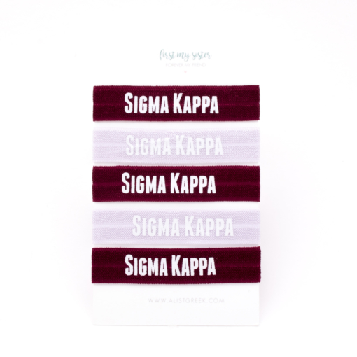 Sigma-Kappa-Sorority Hair Tie Set-24
