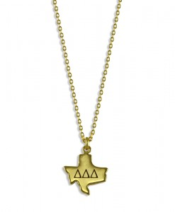 Tri-Delta-Sorority-Texas-State-Necklace-Gold