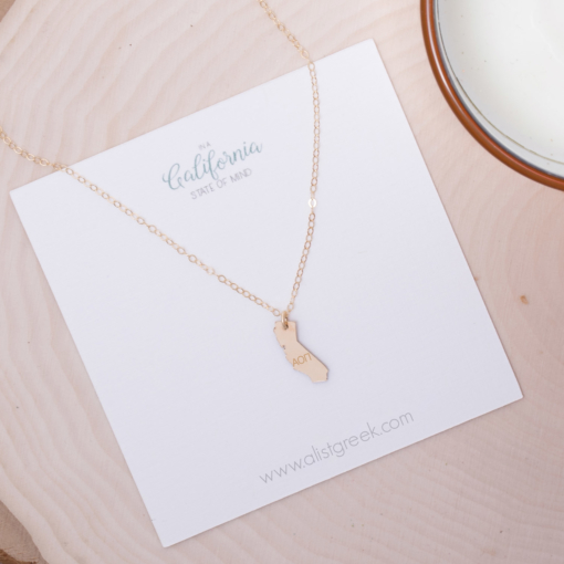 state-necklace-gold-california-on-card-alpha-omicron-pi