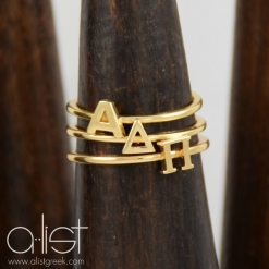ADPi-Sorority-Stack-Rings-Gold-On-Wood