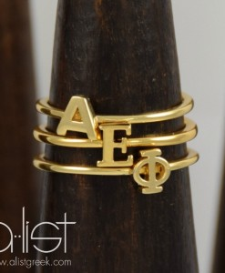 AEPhi-Sorority-Stack-Rings-Gold-On-Wood