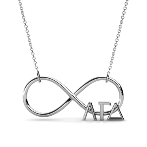 AGD-Sorority-Infinity-Necklace-Silver-Front