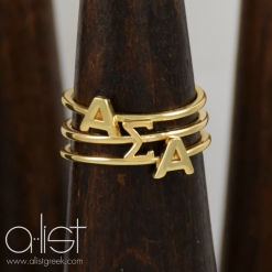 ASA-Sorority-Stack-Rings-Gold-On-Wood