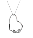 AXO-Heart-Script-Necklace-Silver-Perspective