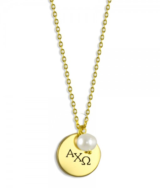 AXO-Sorority-Pearl-Drop-Necklace-Gold