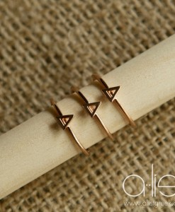 Delta-Delta-Delta-Sorority-Stack-Rings-Rose-Gold-on-Dowel
