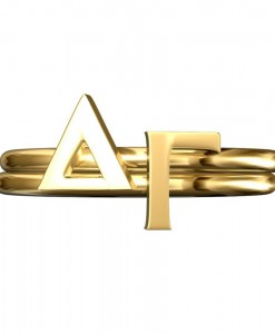Delta-Gamma-Sorority-Stack-Rings-Gold