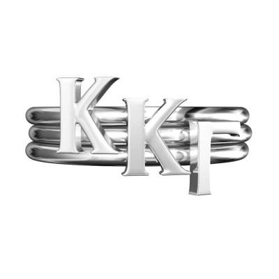 KKG-Sorority-Stack-Rings-Silver-Square