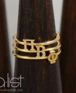 Pi-Phi-Sorority-Stack-Rings-Gold-on-Wood