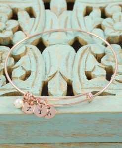 Sorority-Coin-and-Pearl-Charm-Bangle-Rose-Gold-ZTA