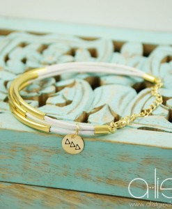 Sorority-Leather-Tube-Bracelet-white-gold-Tri-Delta-on-box