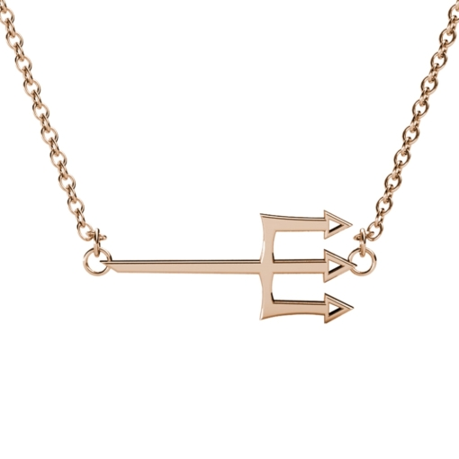 Tri-Delta-Trident-Necklace-Rose-Gold-Front