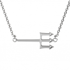Tri-Delta-Trident-Necklace-Silver-Front