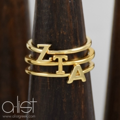 ZTA-Sorority-Stack-Rings-Gold-on-Wood