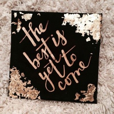 Gold foil is all the accent rage right now--why not make your cap as trendy as can be?
