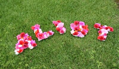 How to Make Floral Greek Letters