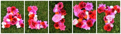 Floral Collage DIY Letters