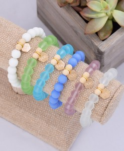 Alpha-Omicron-Pi-Gold-Sea-Glass-Bracelet-Compilation